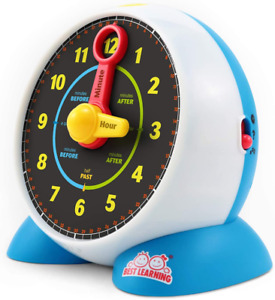 BEST LEARNING Learning Clock - Educational Talking Learn to Tell Time Light-Up T