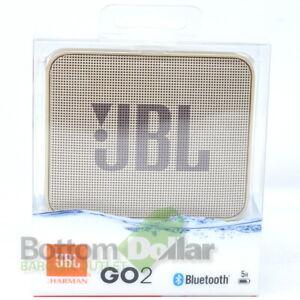 JBL JBLGO2CHAMPAGNEAM GO 2 Portable Bluetooth Waterproof Speaker Champagne