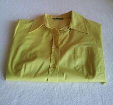 Camicia in cotone da donna CARACTERE Originale TG. 42 colore giallo  - NUOVA -