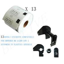 13 Etichette per Brother DK-11209 29mmX62mm QL-500A QL-550 QL-560 QL-570 QL-720