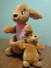 Kanga & Roo Kangaroo Plush Toy Vintage Disneyland Disney World Winnie the Pooh