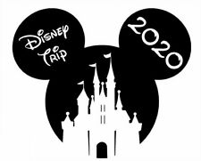 DISNEY ******MICKEY MOUSE****CASTLE ** VACATION 2020 T-SHIRT IRON ON TRANSFER