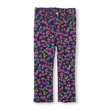 NEW! TCP Baby Girls FLORAL Jeggings Pants 4T Purple Church School Gift $16.95
