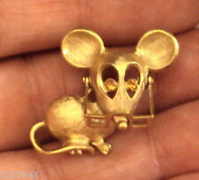 Avon Spectacular Mouse Pin Glasses Move Rhinestone Eyes Figural Brooch VTG 1970s