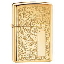 Zippo 352B, Venetian Design, Design Front/Back, HP Brass Lighter,**Flints/Wick**