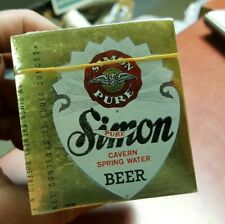 500 Simon Beer Labels Mint In Sealed Pack