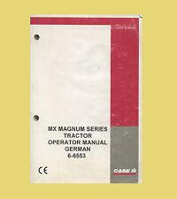 CASE MX180  MX200  MX200  Betriebsanleitung