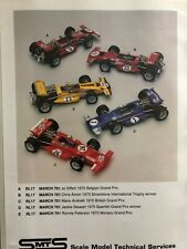SMTS 1/43 MARCH 701 Kit - RL17 -Siffert,Andretti,Amon,Peterson,Stewart versions
