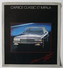 CHEVROLET CAPRICE IMPALA 1984 dealer brochure - French - Canada - HS1002000918