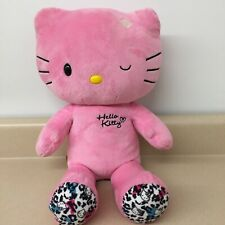 "Build A Bear Pink Winking Hello Kitty Stuffed Plush Animal Euc 18"" Ar180"