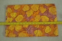 "By 1/2 Yd, 34"", Vintage 1940's-60's, Yellow Orange & Brown Floral on Silk, M7355"