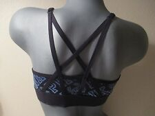 Victoria's Secret PINK Ultimate Strappy Back Sport Bra Blue Ombre Gradient Small