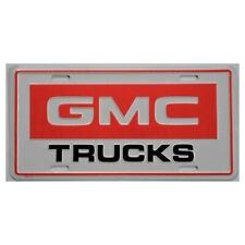 GMC General motors Trucks License Plate GM chevrolet white red New