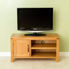 Abbey Waxed Oak TV Stand / Small Oak TV Cabinet / Solid Wood 90cm TV Unit / NEW