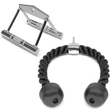 A2ZCare Home Gym Cable Attachments: COMBO Double D Row Handle, Tricep Rope