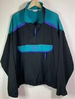 VTG Columbia Color Block Pullover Anorak 1/2 Zip Windbreaker Jacket XL