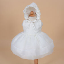 New Girls Ivory Christening Gown with Bonnet 18-24 Months