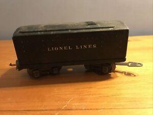 Lionel Lines O Scale Black Tin Train Box Car