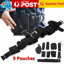 AU Police Guard Tactical Belt Buckles With 9 Pouches/Utility/ Security Kit