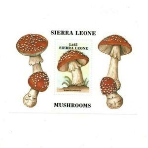VINTAGE CLASSICS - Sierra Leone 958 - Mushrooms - Souvenir Sheet - MNH