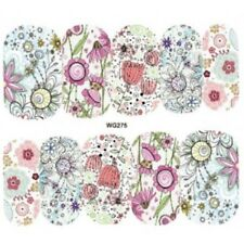 Nail Art Water Decals Stickers Transfers Pretty Flowers Daisies Tulips (WG275)