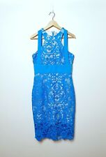Cooper St Size 12 Blue Lace skater zip Evening Cocktail Dress NWT RRP $209.95