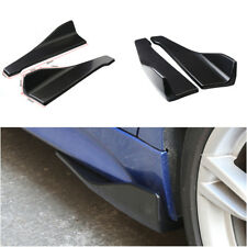 1 Pair Black Car Rear Bumper Lip Splitter Diffuser Chin Spoiler Canard Protector