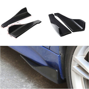 1 Pair Black Car Rear Bumper Lip Splitter Diffuser Chin Spoiler Canard Protector