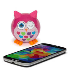 Kitsound Doodles Wireless Pink Owl Speaker Speaker for iPhone iPad Android