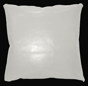 pe229a Cream White Faux Leather Classic Pattern Cushion Cover/Pillow Case Custom