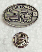 New listing First Student Safe Bus Driver Driving 5 Year Award Lapel Pin