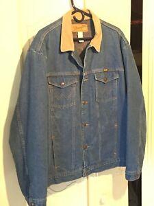 Wrangler Denim Jacket 50 Long Blanket Lined 50L