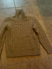 RALPH LAUREN POLO CAMEL HAIR PULL OVER SWEATER SIZE   M