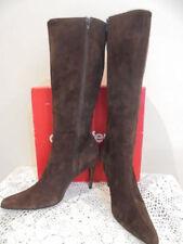Suede Medium Width (B, M) Slim Heel Boots for Women