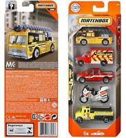 MATCHBOX 2018 Fire Rescue Vehicle 5 PACK. FWX28 New in Box! Ambulance Motorcycle
