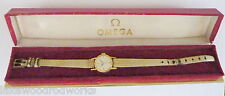 Used Omega Women's Swiss Made Geneve hand winding watch with leather band