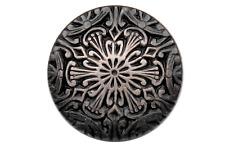 silber antik toller Farbverlauf Metallknöpfe mit Muster Ösenknöpfe 15mm 6 Stück