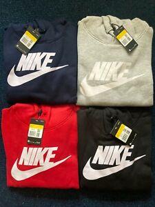 Nike Men's Hoodies Overhead Hoody Sportswear Club Fleece Pullover Logo & Pocket