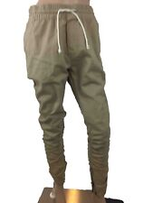 Divided Mens Joggers Cotton Taupe Elasticized Drawstring Waistband Sports   M