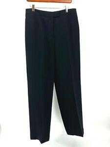 Kasper Size 10 Black Dress Pants Fully Lined NICE (34x29) EUC (S804-D10)