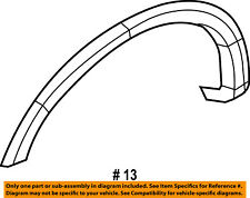 FORD OEM F-150 Front Fender-Wheel Well Flare Arch Molding Right 9L3Z16038APTM