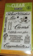 CLEAR ACRYLIC HERO ARTS STAMPS MR. & MRS. ~CHERISH, CONGRATULATIONS wks CTMH blk