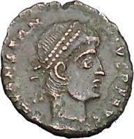 CONSTANTIUS II son of Constantine the Great Roman Coin Wreath of success i40462