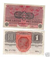 Autriche HONGRIE AUSTRIA Billet 1 KRONE 1916 P49 VG