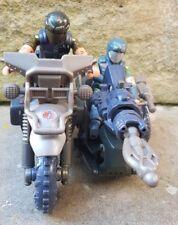 Action force/Gi Joe Cobra Venin cycle avec 2 Vert Vipers Army Builder