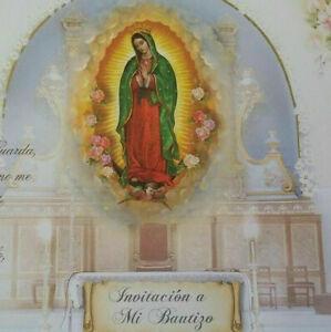 12 Invitaciones de Bautizo (Spanish Baptism Christening invitations)Favors,gift