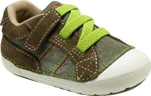 NIB STRIDE RITE Athletic Shoes  Goodwin Brown Lime Green 3 M Toddler