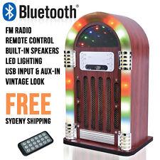 Mini Jukebox Bluetooth FM Radio USB Input MP3 Player Led Lighting Remote Retro