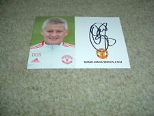 More details for ole gunnar solskjaer - manchester united - signed 21/22 official club photo card