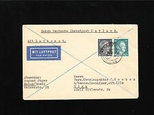 Germany Dienstpost Ostland Hitler Franked Air Mail Mainz 1943 Cover to Riga 8x